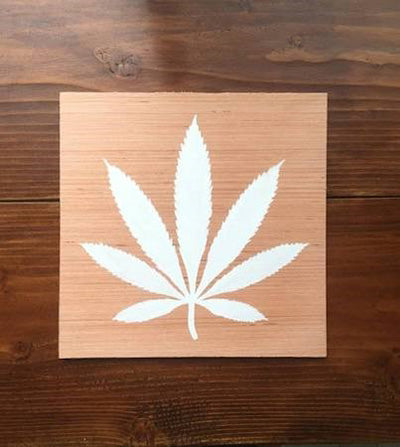 Cannabis leaf painting