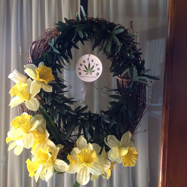 Lynda's marijuana wreath