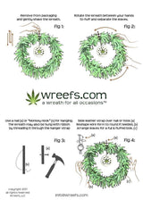 The 420 Friendly Wreef® Brand Artificial Marijuana Wreath - Wreefs