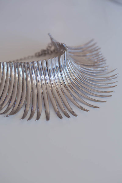 Salita Spines Collar - Silver Fox Foundry