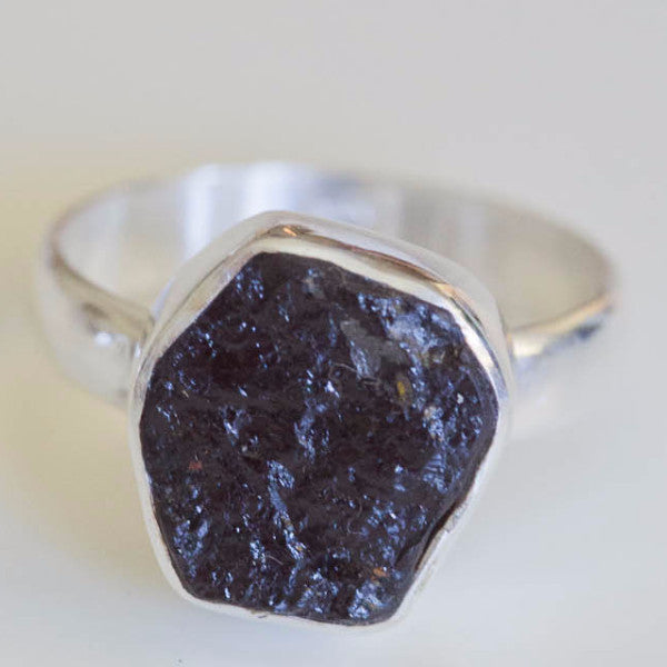 Illya Black Tourmaline Ring - Silver Fox Foundry