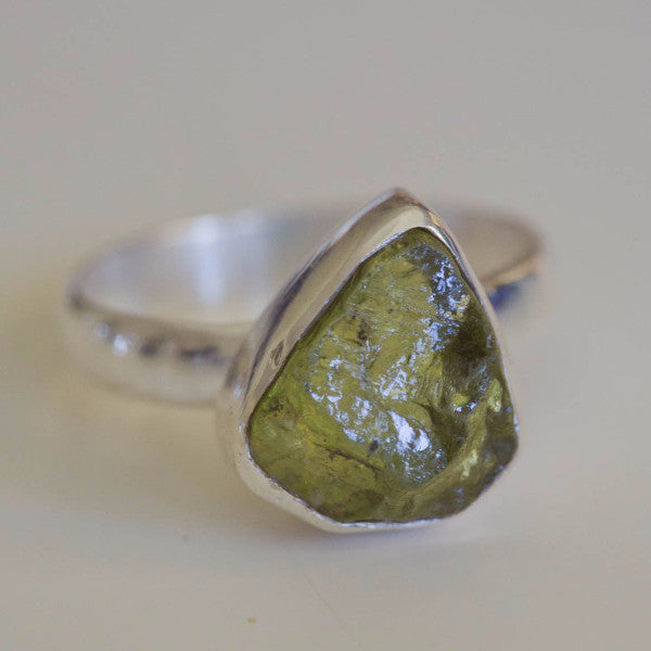 Ursula Raw Peridot  Ring - Silver Fox Foundry