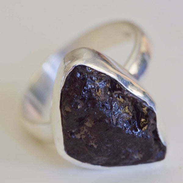 Ilex Black Tourmaline Ring - Silver Fox Foundry