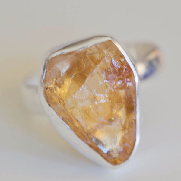 Cyne Raw Citrine ring - Silver Fox Foundry