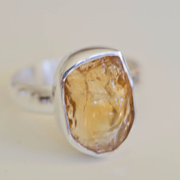 Calinda Raw Citrine Ring - Silver Fox Foundry