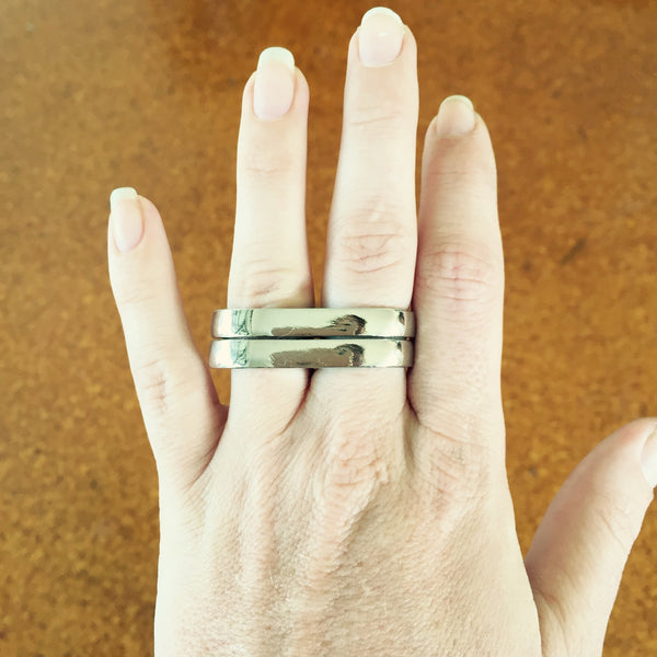 Dusty Dual Finger Rings - Silver Fox Foundry