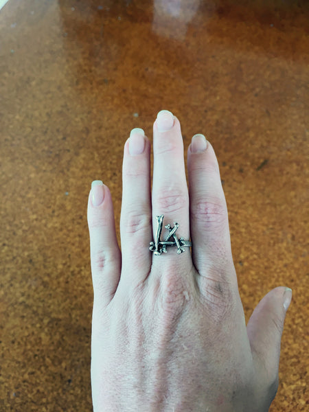 Beres Bones Ring - Silver Fox Foundry