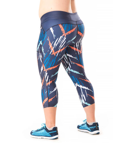 Trifecta Multisport 3 Pkt Capri in Crosshatch - Rsport