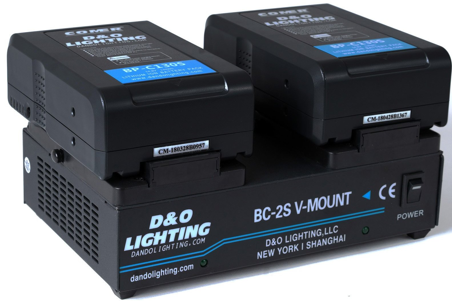 Two 130Wh V-Mount Batteries & Power Station Bundle