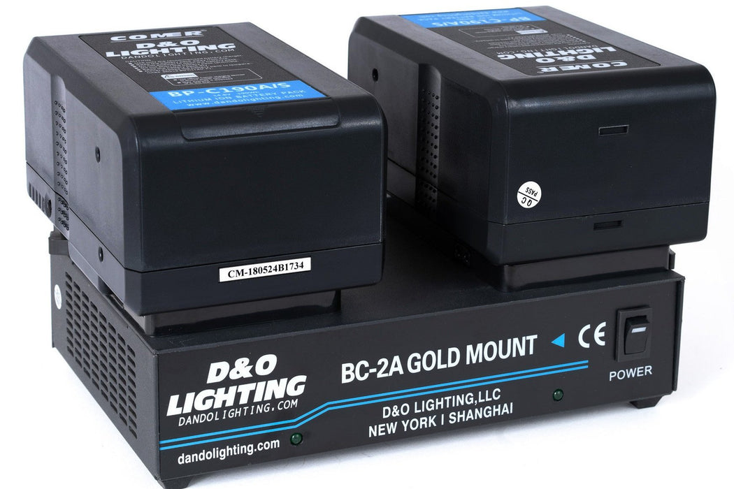 Two 190Wh Gold Mount Batteries & Power Station Bundle