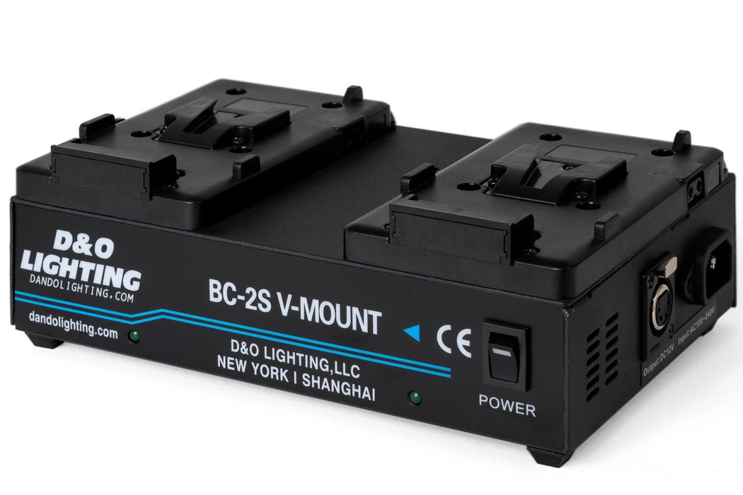 Two 95Wh V-Mount Batteries & Power Station Bundle