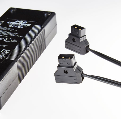 2 Channel D-Tap Travel Charger for V-Mount & Gold Mount Batteries