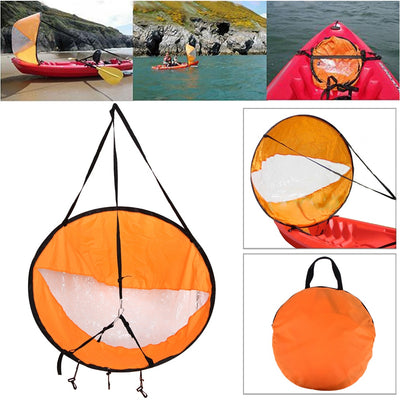 SA Kayak Boat Wind Sail with Clear Window Fishing Rowing Boat Inflatable Outboard Drifting