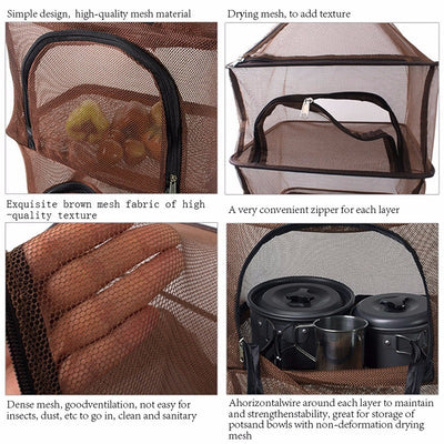 SA Outdoor 4-Layer Mesh Food Shelf