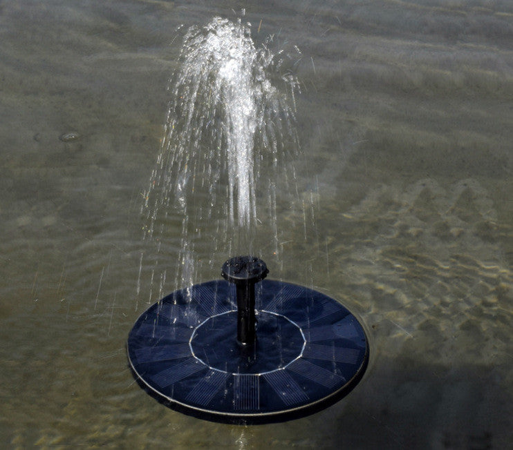 Floating Solar Powered Water Fountain