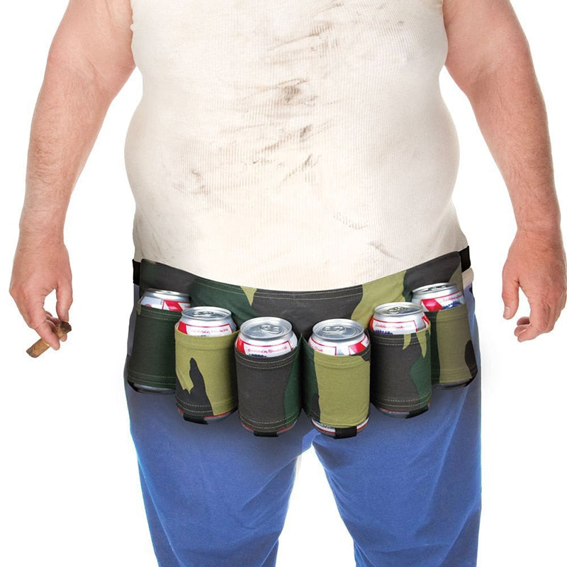 SA 6 Pack Holster Portable Bottle Waist Beverage Belt