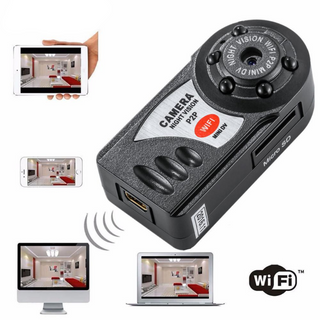 Mini Wifi Dvr Wireless Ip Camera (Night Vision, Motion Detection With Built-in Microphone)