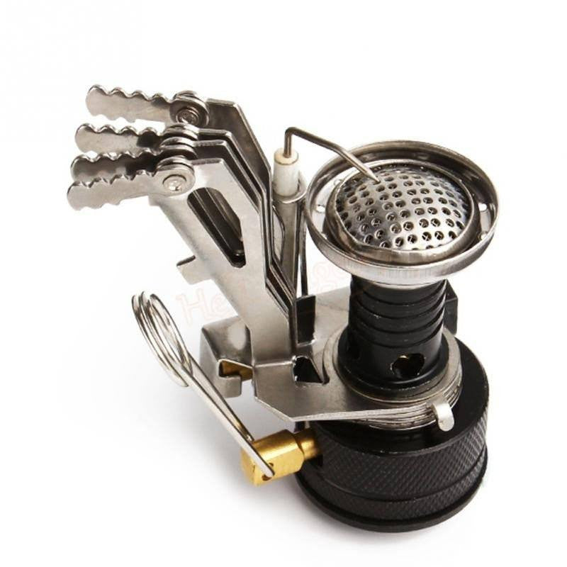 SA mini foldable stainless steel 3000W gas camping stove with self ignition