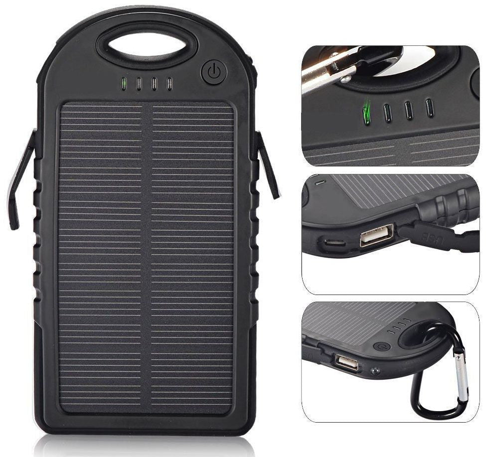 Sa Outdoor Waterproof Solar Powerbank Survivaladdicts
