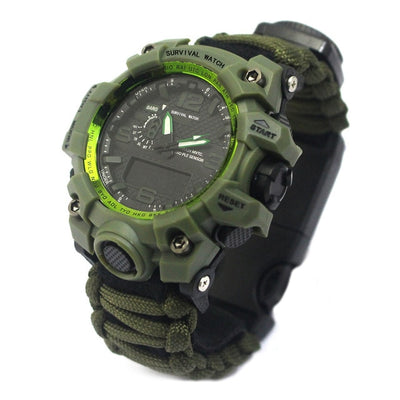 SA Outdoor Sports Multi-function Paracord Waterproof Survival Watch