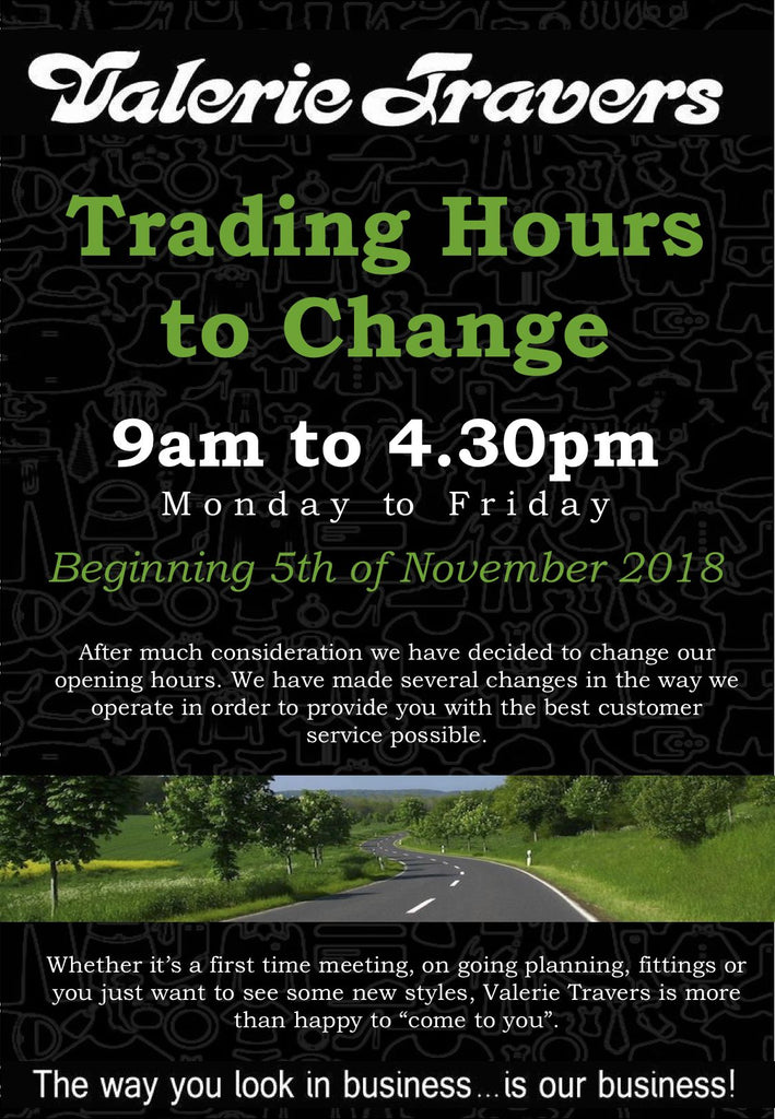 Valerie Travers Trading Hours Change