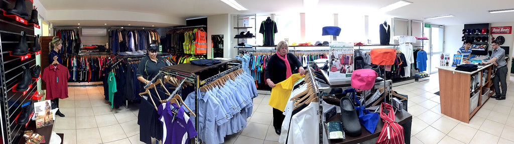 Visit the Valerie Travers retail shop showroom to browse catalogue Uniform Clothing choices