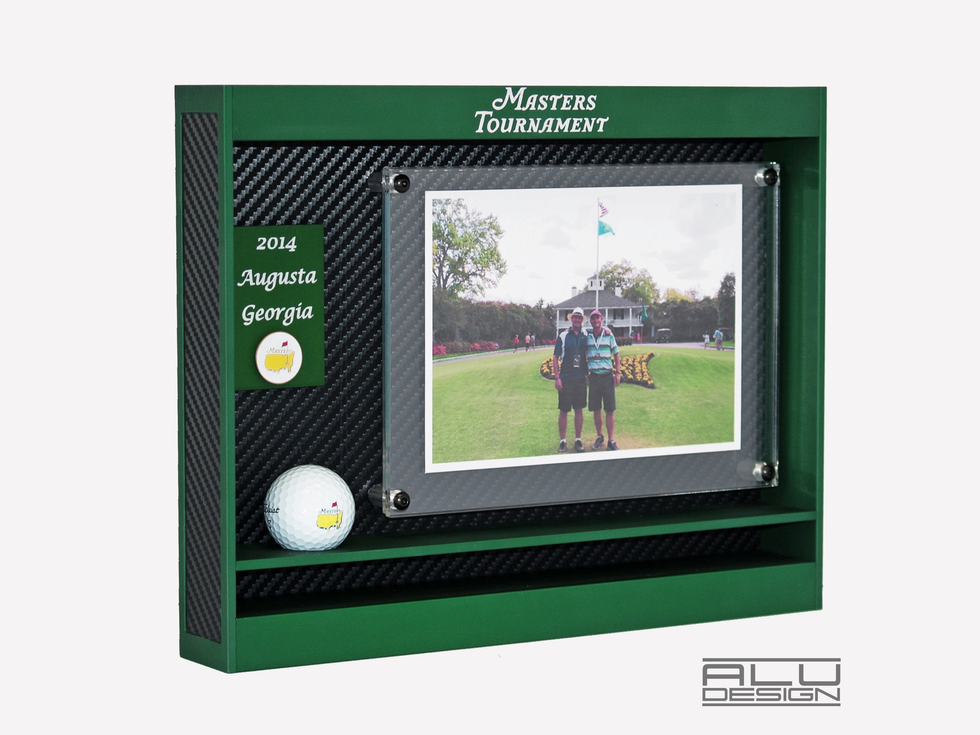 Golf Ball Display Frame Hole In One Golf Ball Case Alu Design
