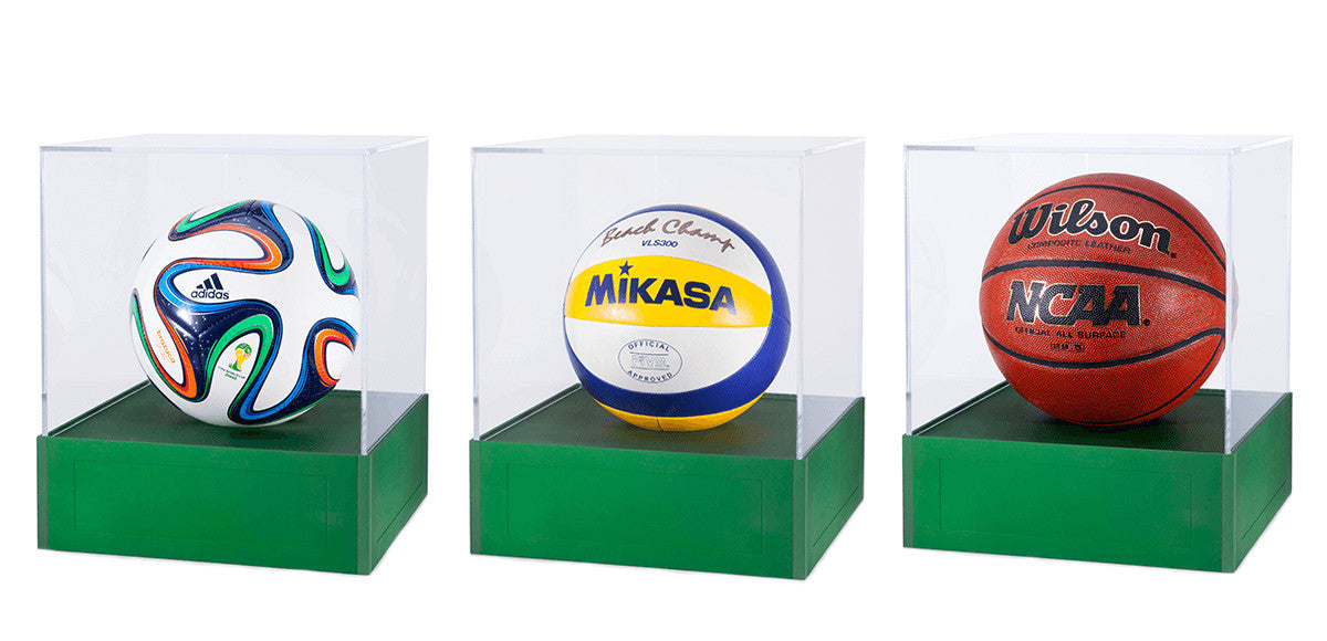 soccer ball volleyball basketball display case aluminum