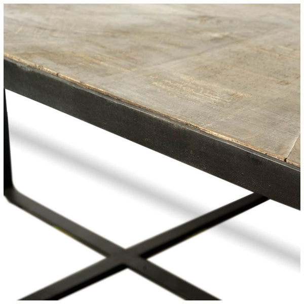 "Sanson 56"" Coffee Table with Metal Legs"
