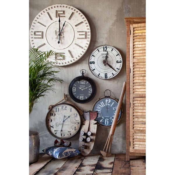 Sheridan Oversized wall clock - Rustic Edge