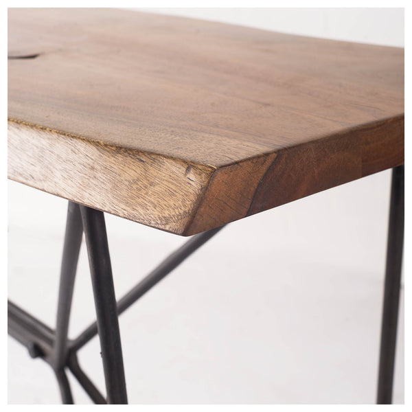 Pilliap Acacia Wood Console Table - Live Edge - Rustic Edge