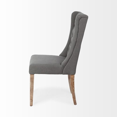 Acken Grey Tufted Dining Chair