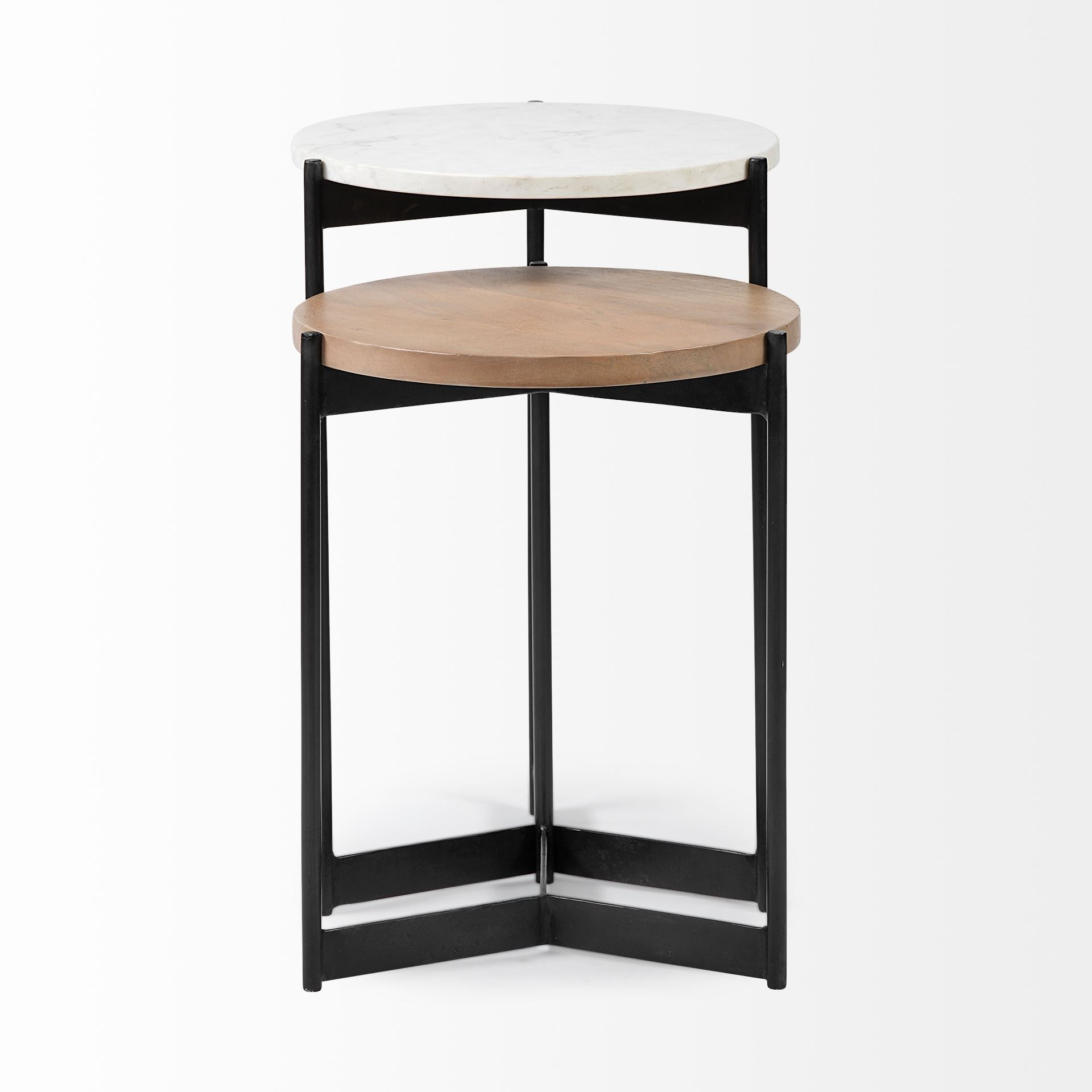Meadow Nesting Tables - Marble and Wood