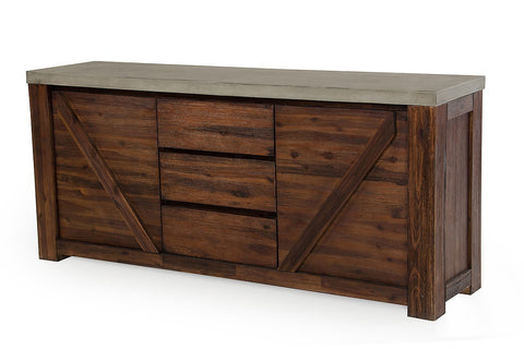 Modrest Revok Modern Concrete & Acacia Buffet by VIG Furniture