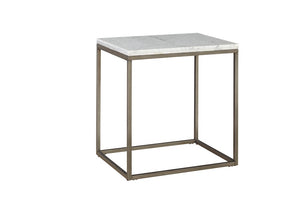 Alana White Marble Top Side Table