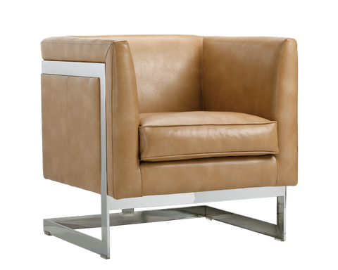 Houston Arm Chair -  Peanut Leather - Rustic Edge