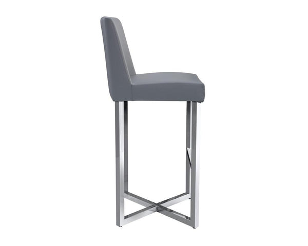 Charlize Contemporary Barstools (set of 2) - Grey - Rustic Edge