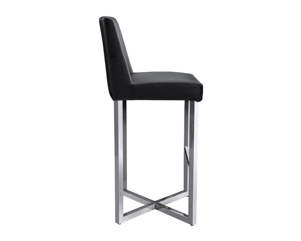 Charlize Contemporary Barstools (set of 2) - Black - Rustic Edge