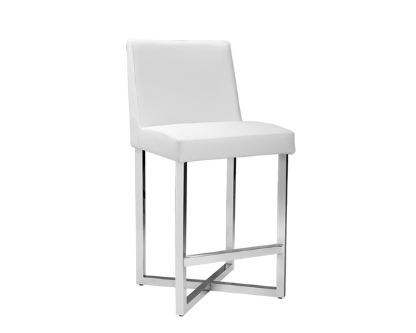 Charlize Counter Stool (Set of 2) - White - Rustic Edge