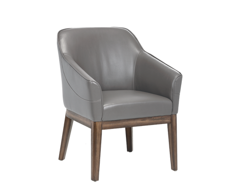 Beatrix Arm Chair - Grey - Rustic Edge