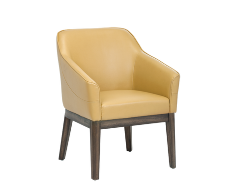 Beatrix Arm Chair - Mustard - Rustic Edge