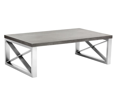 SINCLAIR COFFEE TABLE SEALED CONCRETE