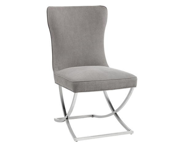 ELVA DINING CHAIR GREY SET OF 2