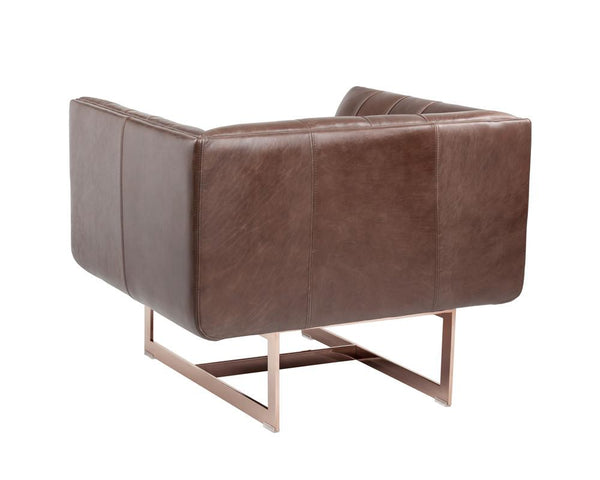 KAISON ARMCHAIR BROWN LEATHER