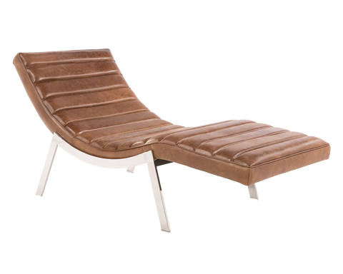 Alberta Chaise - Septa Brown - Rustic Edge