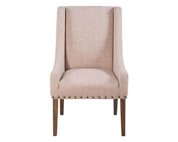 JANNETH DINING CHAIR TAN LINEN