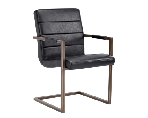 REESE ARMCHAIR BLACK SET OF 2
