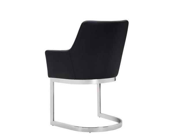 DUNMORE CANTELIEVER DINING CHAIR BLACK