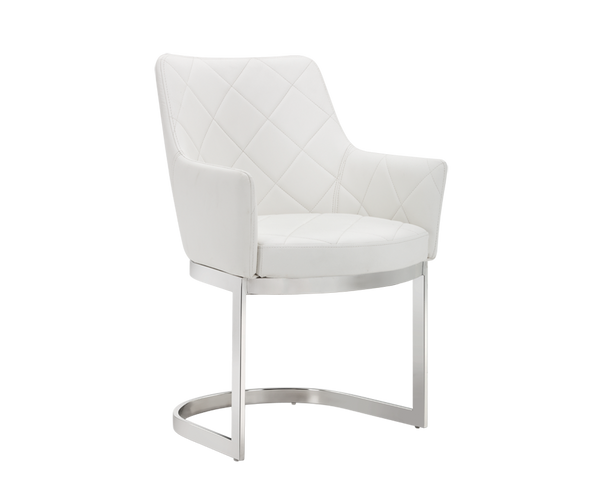 DUNMORE CANTELIEVER DINING CHAIR WHITE