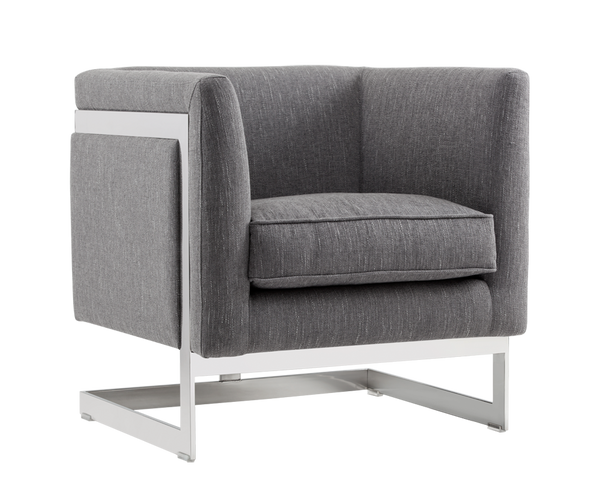 Houston Arm chair Pewter Grey - Rustic Edge